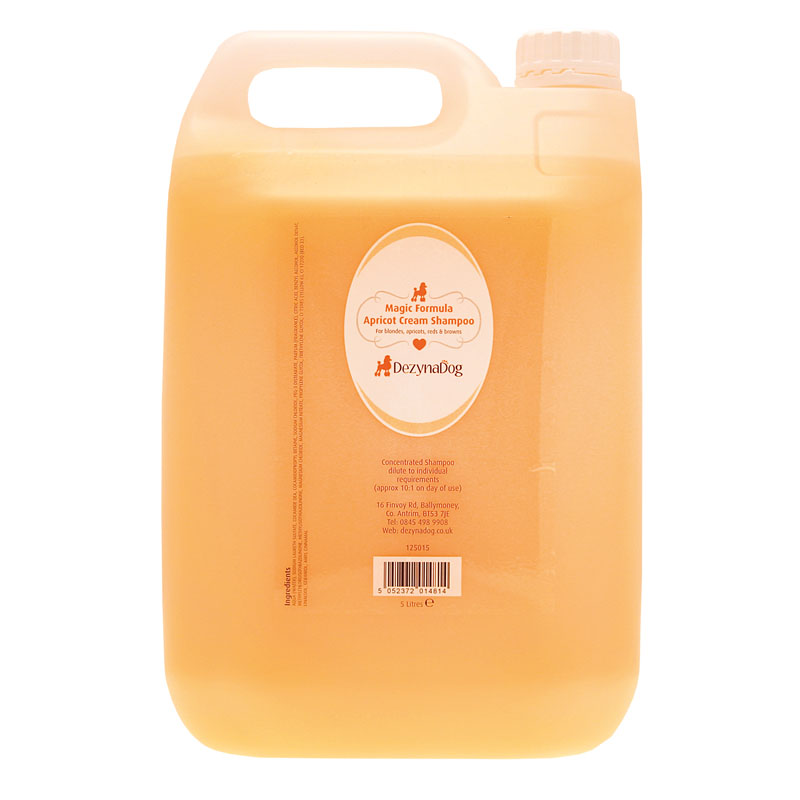 125015 DezynaDog Magic Formula Apricot Cream Shampoo 5L