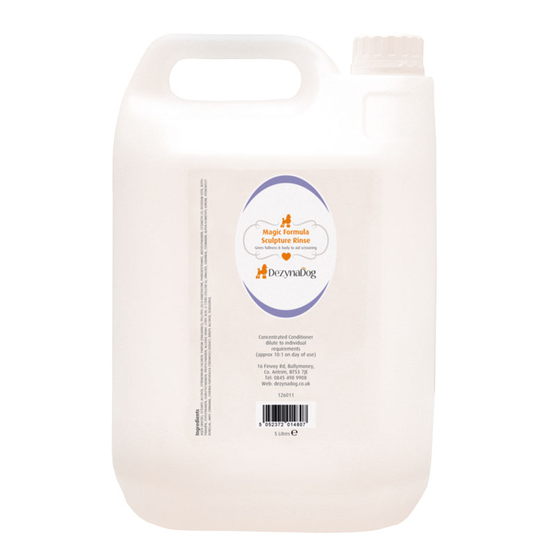 126011 DezynaDog Magic Formula Sculpture Rinse Conditioner 5L